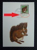 SCHWEIZ MK 1966 846 EICHHÖRNCHEN SQUIRREL MAXIMUMKARTE MAXIMUM CARD MC CM c3535