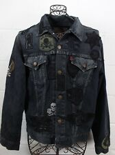 LEVIS Vintage Indigo Army Skull Military Patches Denim Jacket 70502 0217 48 XXL