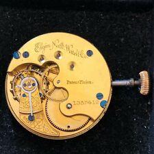 Elgin Pocket Watch Movement 8 Size Grade 94 11J  1884 - Complete & Running (e2)