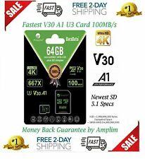 Gopro Hero 7 6 5 Black 64GB Micro SD Card A1 100MB/s 667X 64 GB MicroSDXC DJI 4K