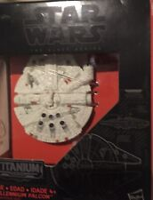 STAR WARS BLACK SERIES TITANIUM DIE CAST MILLENNIUM FALCON #01 FORCE AWAKENS