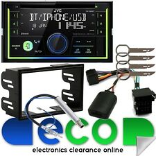 VW Golf MK 99-05 JVC Doble Din CD IV MP3 Usb Bluetooth Auxiliar Estéreo De Coche & Kit swc