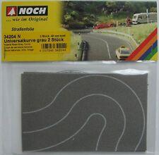 NOCH 34204 Self Adhesive Curved Grey Road (40mm Wide) 'N' Gauge Model Rail