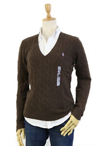 Polo Ralph Lauren Women's Wool Cashmere Blend V-Neck Pullover Sweater - 14 color