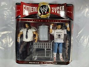 WWE Mankind Terry Funk Extreme Superstars JAKKS Pacific 2-Pack NEW Sealed WWF Y2