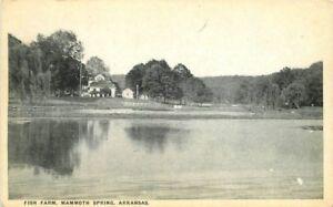 Black White 1940s Fish Farm Mammoth Springs Arkansas Standard postcard 1501