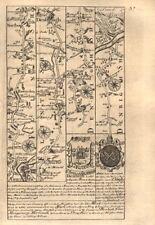Chester-Hawarden-Northop Hall-Denbigh-Conwy road map by OWEN & BOWEN 1753
