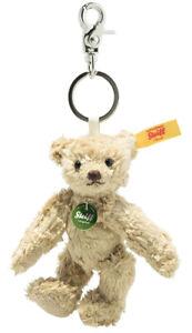 Steiff 'Basko' Teddy Bear Keyring - jointed collectable - 11cm - 028434