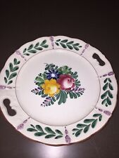 G S Zell German Plate  Hand Painted 11 Inches