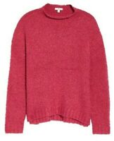 BP Nordstrom Funnel Neck Boucle Sweater Chunky Pink Womens Size Medium NWT