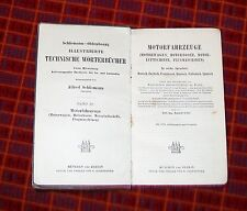 TECHISCHE WORTERBUCHER MOTORFAHRZEUGE TECHNICAL MOTORING  DICTIONARY 1910