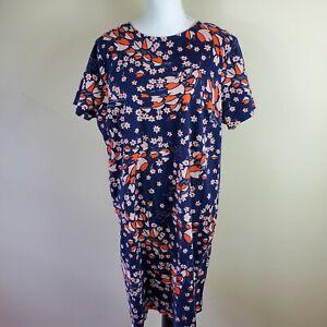 BODEN Floral Printed Sheath Dress Short Sleeve Women's Size 18L