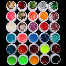 30 PCS Glitter Mix Color UV Builder Gel Acrylic Set for Nail Art Tips