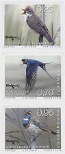 Luxembourg 2018 rare birds oiseaux aves vogel warbler swallow hirondelle 3v mnh