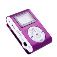 Reproductor Mini MP3 LCD con Enganche Clip, Music Player, Morado a0432 nt