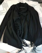 100%  KASCHMIR 🖤❤Fransenstrickjacke 1x getragen gr 40 schwarz 1xgetragen