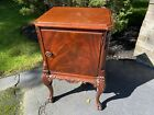 Ornate+Antique+Mahogany+Nightstand+End+Table+Stand