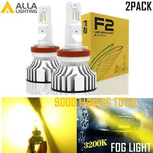 Alla Lighting H8 Super Yellow Longer Wavelength Safety Driving Light Fog Lamp