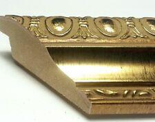 40 ft - Ornate Gold Picture Frame Moulding, Oval Medallion, Real WOOD, Length