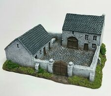 6mm wargame buildings.  Enclosed Farmhouse & Stables