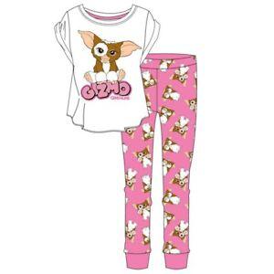 Gizmo Gremlin Ladies Pyjamas Pjs  Pink Women Nightwear Short Sleeve