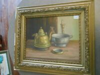 oil on canvas by V Romans  done mid 20th century
