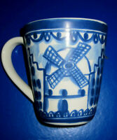 1-Cobalt Blue HBO Advertising Coffee Mug☆Ceramic//Stoneware☆Multiples☆Excellent ☆
