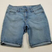 Sonoma Bermuda Denim Shorts Womens Size 2 Jeans Modest Blue Cuffed Stretch