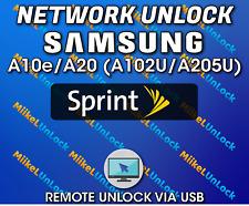 Network Unlock SAMSUNG A10e A20 Sprint Boost Mobile - Remote by USB
