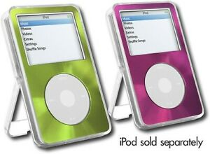 DLO Videoshell Special Edition Green Pink Faces iPod Video Clear Standing Case