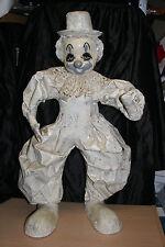 Vintage Paper Mache Clown Sculpture  Original Folk Art by Jose Gomez LARGE 25X14