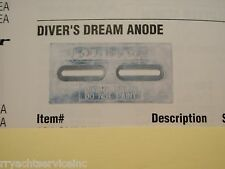 "PLATE ANODE BOAT HULL 194 CMDIVERMINIM 6""X4""X1/2"" DIVER FRESHWATER MAGNESIUM"