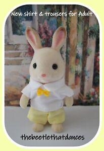 Sylvanian Families Clothes, New Trousers G Shirt & Tie for Adult Cat, Rabbit ETC