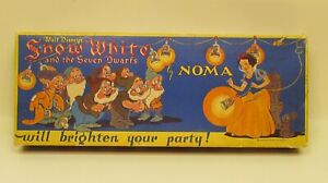 1938 Canada Exclusive Disney SNOW WHITE & THE SEVEN DWARFS CHRISTMAS Lights BOX