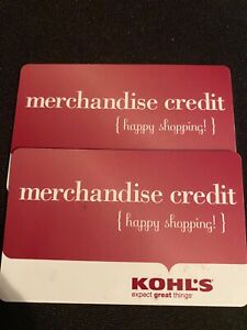 KOHL'S Gift card $493.92 for all your shopping needs on line or in store