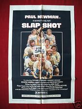 SLAP SHOT * 1977 ORIGINAL MOVIE POSTER 1SH PAUL NEWMAN HANSON BROTHERS HOCKEY NM