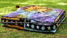 "Indian Mandala Sun Moon Meditation Floor Pillow Cushion Cover Dog Bed Square 35"""