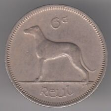Ireland 6d Sixpence 1964 Copper-nickel Coin - Irish Wolfhound