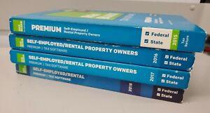 Lot- 2015, 2016, 2017, 2018 H&R Block Premium Tax Software Self-Employed Rental