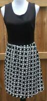 41 Hawthorn Stitch Fix TANK DRESS - Geo Print Black & White - Size LARGE NEW $70