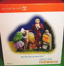 Department 56 Halloween How About Our Lay-Away Plan? Snow Village Accessory New