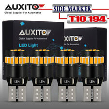AUXITO 4X T10 Amber Yellow 168 194 921 License Side Marker Light Canbus LED Bulb