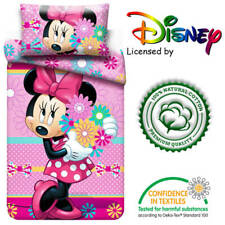 Minnie Mouse bedding set Pink Cotton Official Disney Uk Single bed size Zippered