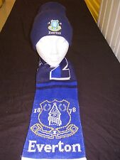 EVERTON SUPPORTERS  SCARF & HAT SET .GOODISON PARK..TOFFEEMEN