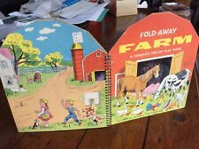 Fold Away Farm A Complete Pop-Up Play Book by Phyllis Peltz and Abe Schenk 1956