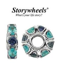 Storywheels Argento Sterling Topazio Blu & Iolite Charm Bead-Dicembre Pietra Zodiacale