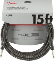 Genuine Fender Professional Series Instrument Cable, 15', Gray Tweed
