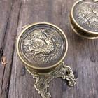 Pair of Brass Hummingbird Door Knobs / Handles