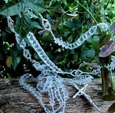 WEDDING ' BODA LAZO ' MADE OF CUT CRYSTALS  WITH SILVER CROSS