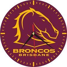 Wall Clocks Brisbane Broncos NRL Rugby League Sports Team Ball Game Play Boy